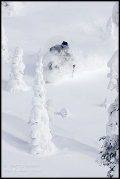 Perfect Powder Skiing at Whitefish Mountain by David Marx - Journée de ski de rêve aux US !