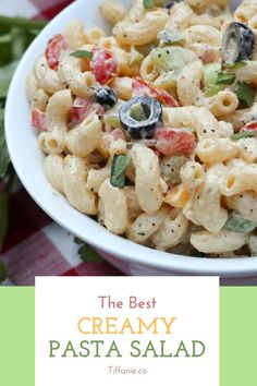The best creamy pasta salad can also be made with a lot of fresh, whole-wheat pasta. Whole-wheat pasta is high in fiber. And you want to make sure that you are getting plenty of fiber in your diet. This is especially important if you are trying to lose weight. #pasta #pastalover #pastasalad #pastamaking #pasta🍝 #salad #salads #saladrecipe #saladideas #saladdressing