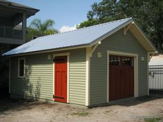 bungalow garage style | 16′x22′ custom one-car garage built by Historic Shed in Tampa with ...