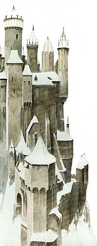 """Alan Lee """"Dietrich and the Castle of the Ice Queen"""" from the book """"Castles"""""""