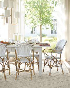 Newbury Dining Table & Riviera Chairs via Serena & Lily