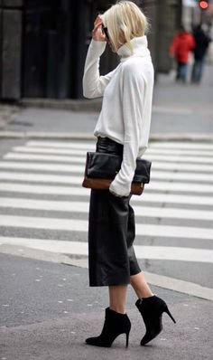 Chic and Silk: GET INSPIRED: Culottes! 50 Best Winter Outfits + 6 Τρόποι Να Τη Φορέσετε