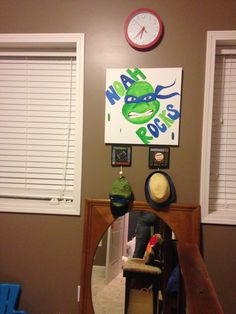 TMNT boys Room Décor. Love the Painting! Sisters2Mothers.com