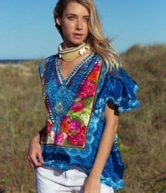Women's online Bohemian Resortwear Fashion destination. Discover a world of unique and gorgeous boho-chic style - designer boutique quality clothing. Easy Wear, Navy Tops, Fashion Outfits, 21st Century, Blouse, Clothing, How To Wear, Shopping, Beautiful