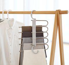 OFF Winter promotion -Multi-Functional Pants Rack-Space saving assistant Trouser Hangers, Pants Rack, Hanging Pants, Bedroom Closet Design, Hanger Rack, Diy Rack, H & M Home, Space Saving Storage, Storage Rack