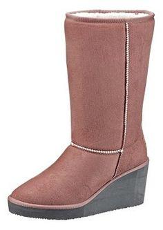 #OTTOWinterWeekend  #Stiefel mit Keilabsatz von #Esprit. Mit kuscheliger Warmfutterinnenausstattung, flexible Synthetiklaufsohle mit 70 mm Keilabsatz und 15 mm Plateau. 59,99 Euro