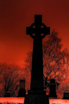 Cemetery Cross...maybe a little creepy but still beautiful x
