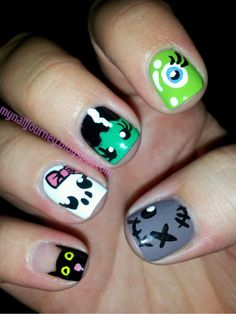 My Nail Journey: CNT Halloween Nail Art Challenge: Things That Go Bump In The Night