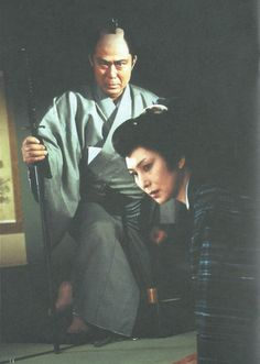 "fuckyeahmeikokaji: "" From the booklet of the Japanese DVD release of the 1995 Onihei Hankacho (鬼平犯科帳) Special, starring Meiko Kaji () and Kichiemon Nakamura (二代目 中村 吉右衛門). Submitted by our friend..."