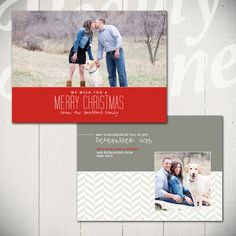 Christmas Card Template Warmest Wishes A  by BeautyDivineDesign, $8.00