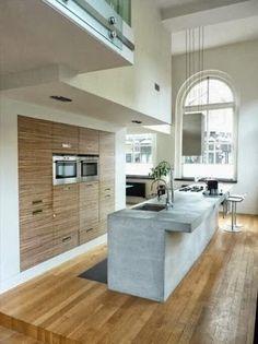 espectacular cocina moderna en un loft de valencia, españa.
