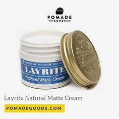 Shop for Layrite if your after a medium Hold and matte shine Pomade. Pomadegoods has a range of of the best men's hair pomade. Mens Pomade, Hair Pomade, Men's Fashion, Cream, Natural, Moda Masculina, Creme Caramel, Fashion For Men, Mens Fashion