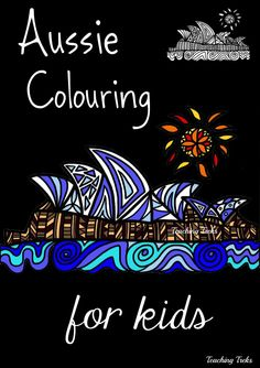Eight fun Aussie designs for kids to colour plus blank outlines for kids to create their own designs! $