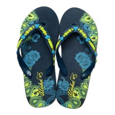 Womens Beach Aloha Slippers Blue Swirl -- More info could be found at the image url.