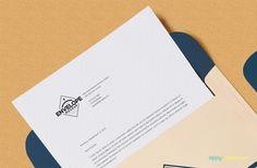 Free Envelope PSD Mockup + Letterhead Mockup   ZippyPixels