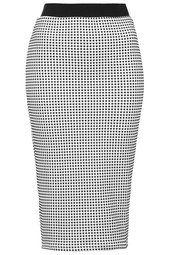 Monochrome Gingham Tube Skirt