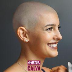Bald Head Women, Shaved Head Women, Super Short Hair, Short Hair Cuts, Short Hair Styles, Shaved Side Hairstyles, Trendy Hairstyles, Cimorelli, Ulta Lipstick