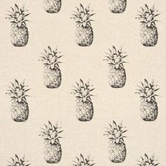 Ananas Colour:Noir Fabric:Print Product Code:F0776/01 Collections:Fougères Composition:100% Linen
