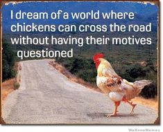 WeKnowMemes - http://weknowmemes.com/2012/07/i-dream-of-a-world-where-chickens-can-cross-the-road/