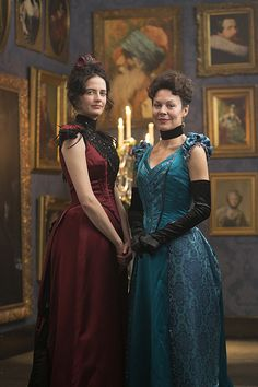 Helen McCrory and Eva Green in Penny Dreadful (2014)