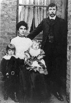 Survivors of Titanic – Family Group, Credit Library of Congress, Reproduction #LC-USZ62-34976    This very fortunate family survived the Titanic sinking. Their name isn't listed on the photograph.  It would be interesting to learn what became of them afterwards