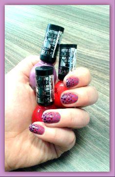 My diy nails - shades of purple
