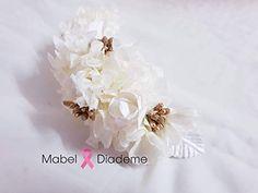 248eaf7bb Mabel Diademe tiara comunion boda arras novia accesorio pelo tocados  ceremonia eventos glamour flores preservadas