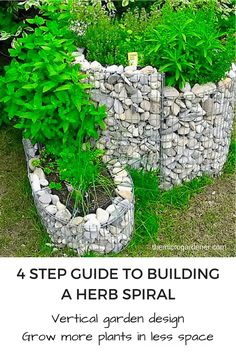 Vertical Gardens Learn how to build a Herb Spiral in 4 simple steps. This clever vertical garden design is a highly productive, energy efficient way to grow food; can be made with a wide variety of materials; and maximizes growing space. Dig in! Herb Spiral, Spiral Garden, Vertical Garden Design, Vertical Gardens, Gutter Garden, Gabion Wall, Types Of Herbs, Bottle Garden, Gardening For Beginners