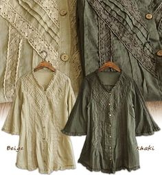 Rakuten: Bell sleeve seven minutes sleeve cotton blouse tunic ●◎ 88 with SALE ☆ ribbon string- Shopping Japanese products from Japan