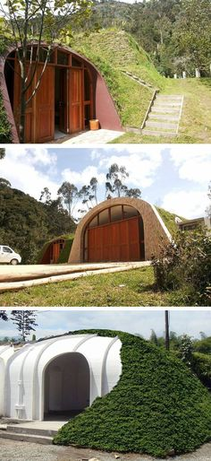 A company in Florida called Green Magic Homes is producing these prefabricated homes that look like they were inspired by the Hobbit homes from the Lord of the Rings.: