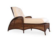 Lloyd Flanders Grand Traverse Wicker Cushion Arm Adjustable Chaise | 71325
