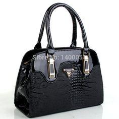 100% Brand Patent Leather Alligator Handbag Premium Brand Alligator Shoulder Bag European/American Fashion Shoulder Bag #M114