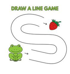 Cartoon frog draw a line game for kids vector Logic Games For Kids, Activity Games For Kids, Mazes For Kids, Educational Games For Kids, Preschool Learning Activities, Alphabet Activities, Preschool Crafts, Kids Learning, Printable Preschool Worksheets