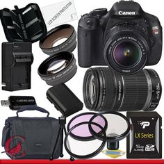 Canon T3i 18-55 55-250 Canon EOS Rebel T3i 18 MP CMOS Digital SLR Camera w/ 18-55mm IS II & 55-250 IS II Lens Kit Package 3