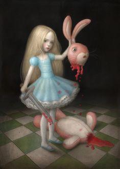 Creepy Art, Weird Art, Arte Horror, Horror Art, Arte Lowbrow, Mark Ryden, Arte Obscura, Rabbit Art, Vladimir Kush