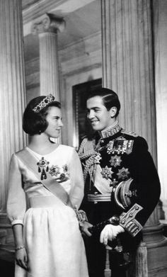 thestandrewknot: King Constantine II and Queen Anne-Marie of Greece.                                                                                                                                                                                 More