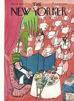 The New Yorker - Saturday, October 16, 1943 - Issue # 974 - Vol. 19 - N° 35 - Cover by : Ludwig Bemelmans