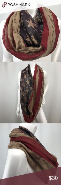 330ec40f2fb I just added this listing on Poshmark  Patriotic Burnout American Flag Scarf  Stars Stripe.