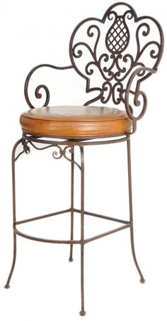 Such a pretty bar stool Wrought Iron