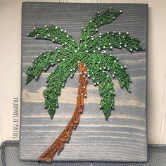 Palm tree string art by stringsbysamantha