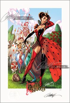 Fairy Tale Fantasies 2012 Calendar! - Queen of Hearts / February