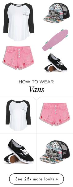 """""""Untitled #40"""" by helloclarissa on Polyvore featuring Vans and Tee and Cake"""