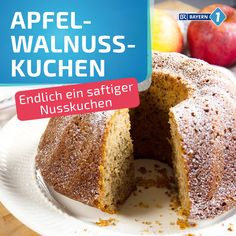 Apfel-Walnusskuchen Juicy and fine, with apples and walnuts – this nut cake smells wonderful and is easy to bake with our family recipe. Quick Dessert Recipes, Easy No Bake Desserts, Fancy Desserts, Easy Cookie Recipes, Recipes Dinner, Pasta Recipes, Crockpot Recipes, Soup Recipes, Vegetarian Recipes