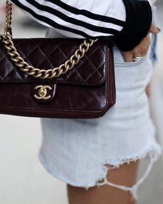 Chanel Tasche Bordeaux Ror