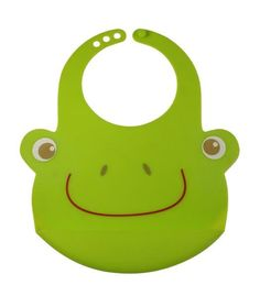 4a271598129 Bamboo Kids Hopper the Frog Silicone Baby Bib