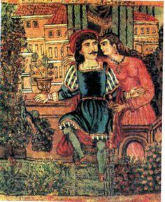 Erotokritos and Aretousa by Theofilos Art Articles, Greek History, Greek Art, Historical Fiction, Conceptual Art, Crete, Graphic Design Illustration, Printmaking, Renaissance