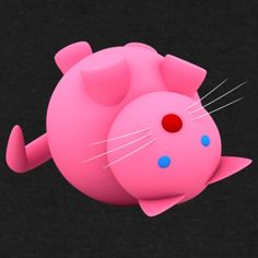 Pink Cat - Frauen Pullover mit U-Boot-Ausschnitt von Bella