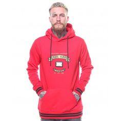 b901fd8c Karl Kani Holland Trademark Hoodie Sweatshirt Pullover Red Winter KK1736  #KarlKani #Hoodie