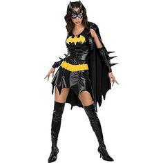 CostumeSupercenter.com Batgirl Adult Costume ($42) ❤ liked on Polyvore featuring costumes, batman, outfits, halloween, halloween costumes, super hero costumes, adult super hero costumes, batman costume, bat women costume and batman halloween costumes