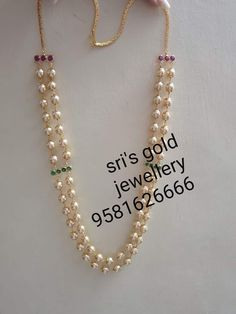 Pearl Necklace Designs, Jewelry Design Earrings, Gold Earrings Designs, Beaded Jewelry Designs, Bead Jewellery, Jewelry Patterns, Gold Necklace, Gold Designs, India Jewelry